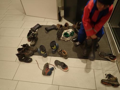 Schuhe im Eingang